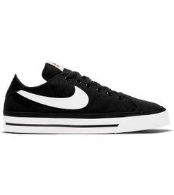Tenis-nike-para-mujer-Wmns-Nike-Court-Legacy-Cnvs-para-moda-color-negro.-Lateral-Externa-Derecha