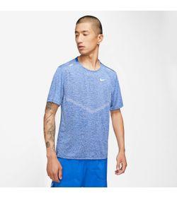 Camiseta-Manga-Corta-nike-para-hombre-M-Nk-Df-Rise-365-Ss-para-correr-color-azul.-Frente-Sin-Modelo