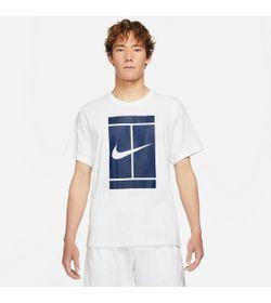 Camiseta-Manga-Corta-nike-para-hombre-M-Nkct-Tee-Ssnl-Court-para-tenis-color-blanco.-Frente-Sin-Modelo
