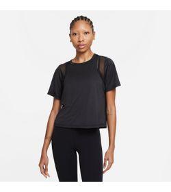 Camiseta-Manga-Corta-nike-para-mujer-W-Ny-Df-Top-Mesh-para-entrenamiento-color-negro.-Frente-Sin-Modelo